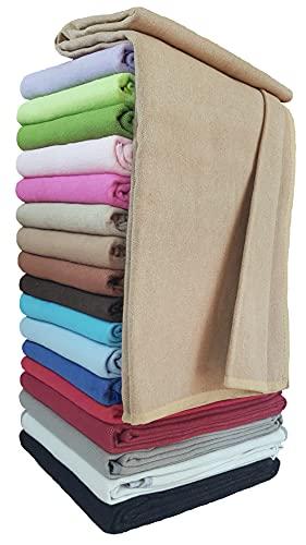 STTS International Baumwolldecke Wohndecke Kuscheldecke Tagesdecke 100prozent Baumwolle sehr weiches Plaid Korsika (Beige, 150 x 205 cm)