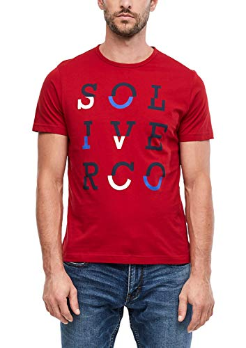 s.Oliver 13.910.32.4044 T-Shirt, Rosso (Uniform Red 3660), Large Uomo