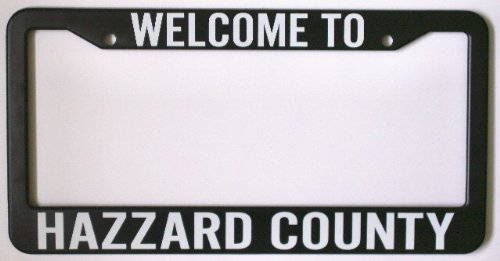 Hazzard County LICENSE PLATE FRAME 6 X 12 DUKES GIFT FAN REDNECK SOUTHERN REBEL SOUTH MOONSHINE NASCAR BO LUKE COOTER DAISY BOSS HOGG ROSCO JESSIE GENERAL LEE TRUCK CAR CHARGER FITS DODGE FORD CHEVY