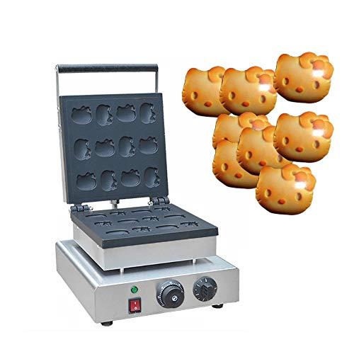 Sandwicheras Comercial Electricidad Inoxidable Forma de Hello Kitty Galleta del Panadero máquina del Tiempo con y de Control de Temperatura Adecuado for la Familia Restaurante Panaderías Snack-Bar,