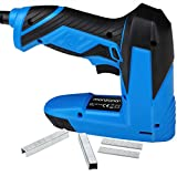 MONZANA Combined electric nailer stapler 400 staples and 100 nails included Safety switch 30 strokes per minute Anti-jam mechanism