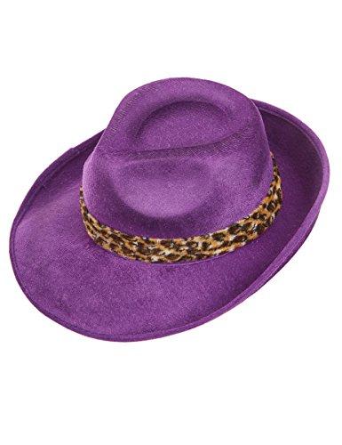 Generique - Violetter Pimp-Hut für Erwachsene