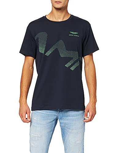 Hackett London Amr Astro Logo tee Camiseta, Azul Marino, XXL para Hombre