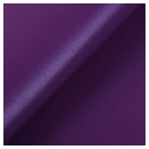 ZSFBIAO Polipiel para tapizar,Cuero para Manualidades ,despegar y Pegar para Asiento de Coche, Muebles, Chaqueta, sofá -26o Violeta 1.38×1m