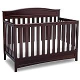 Delta Children Emery 4-in-1 Convertible Baby Crib, Dark Chocolate