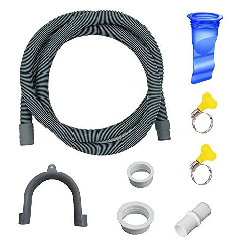 NETT Tubo per Lavatrice,Tubo di Scarico per lavatrice e lavastoviglie,Tubo Scarico lavatrice,Tubo di Scarico,Utilizzabile per kit di Prolunga tubo di Scarico per lavatrice,lavastoviglie (1.5M)