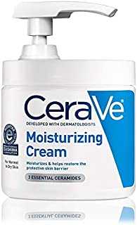 CeraVe Moisturizing Cream | 16 Ounce with Pump | Daily Face and Body Moisturizer for Dry Skin