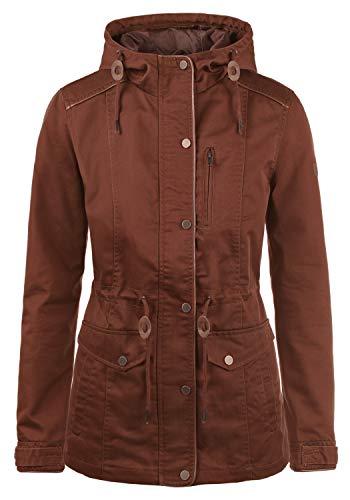 DESIRES Anja Damen Übergangsjacke Mantel Parka leichte Jacke mit Kapuze, Größe:L, Farbe:Fox Brown (6792)