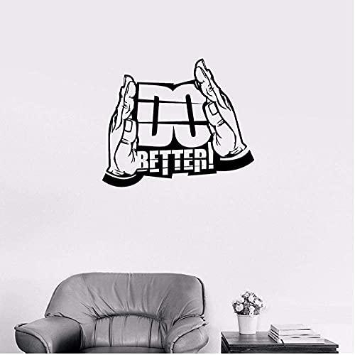 Las Pegatinas De Pared Hacen Una Mejor Motivación Papel Tapiz Impermeable Dormitorio Sala De Estar Tv Decoración De Fondo Calcomanías De Arte Mural Decoración Del Hogar 56X65Cm