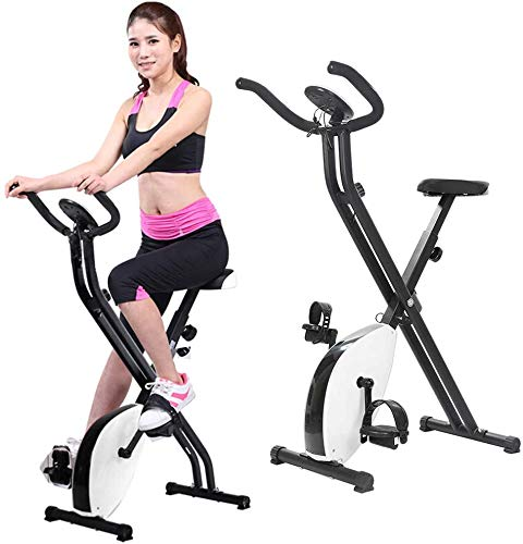 RUN Negro Blanco Bicicleta estática, magnético X-Type de Bicicletas, con una frecuencia Cardiaca, Profesional de Bicicletas Trainer, Booster, el Equipo de Ciclo