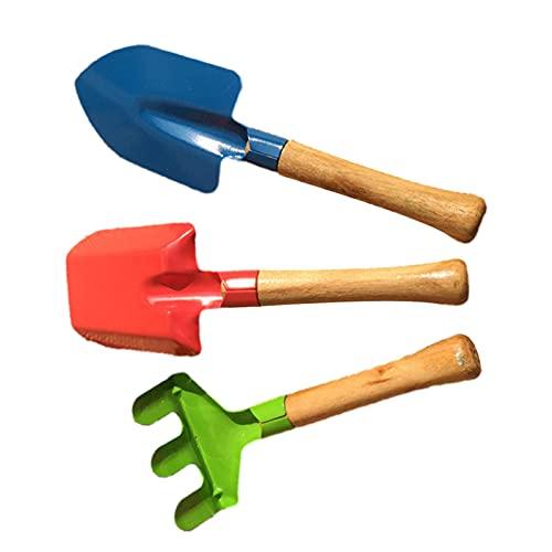 A/A Tuinset met handgrepen, kleine schep en kleine bezem, tuingereedschap voor kinderen (3-delige tuinset)
