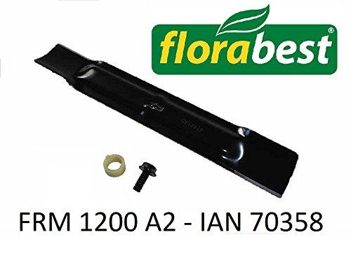 Florabest Mes reservemes + schroef voor grasmaaiers FRM 1200 A2 IAN 70358
