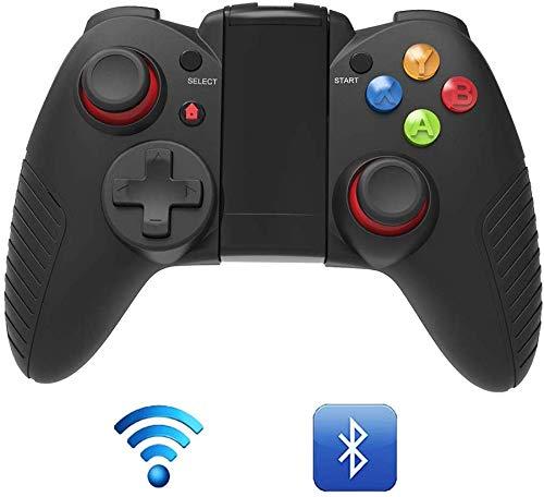 ZGYQGOO Manette Jeu sans Fil Rechargeable, contrôleur Jeu Bluetooth, Manette Jeu sans Fil, Manette Jeu rapià Chargement USB, compatibilité pour Android iOS, Noir