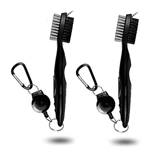 Pack of 2 Golf Brush Club Groove Cleaner with 2