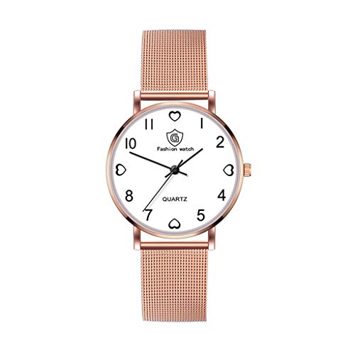 Bravetoshop Women's Watch Elegant Diamonds Shinning Dress Watches Analog Quartz Wristwatches Casual Fashion Ladies Bracelet Watch for Valentine's Day Gifts 969 (Rose Gold)