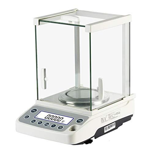 WZ Balanza Analítica Electrónica 120g/0,1mg 220g/0,1mg Báscula Laboratorio Precisión con Parabrisas para Laboratorio Farmacia Joyería (Size : 120g/0.1mg)