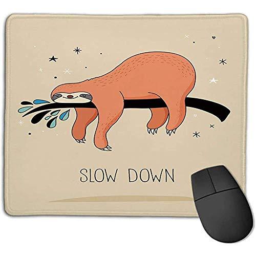 Animal Decor Slapen Grote Beer Sloith Opknoping op een bank Gezellige Luie Wild Creature Afbeelding voor Laptop Computer PC Toetsenbord