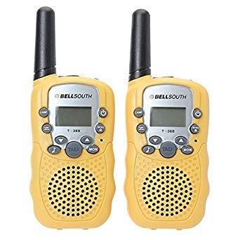 Petsdelite T-388 Mini-Radios/Walkie-Talkie, 0,5 W, Uhf, Gelb