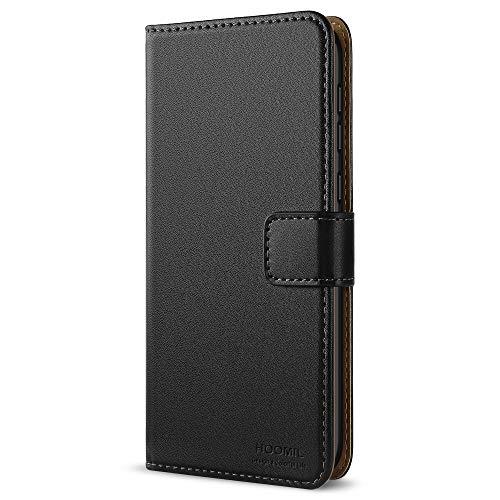 Handyhülle für Huawei Honor 6X Hülle, Premium Leder Flip Schutzhülle für Huawei Honor 6X Tasche, Schwarz