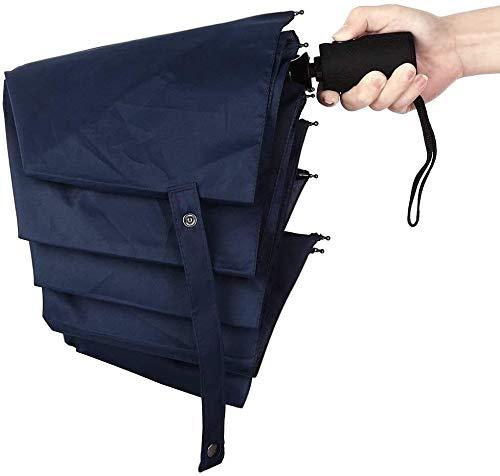 Moolo Portable Automatique Bouton on/Off étanche Parapluie Noir extérieur Coupe-Vent Parapluie Homme Lumière Voyage Umbrella