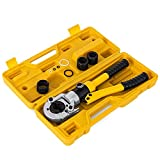 OldFe Pinza Crimpatrice TH 16-32mm Press Pinza Per Tubi Compositi 12 Tonnellate Pinze di Piegatore Tubo Crinmping Tool Con Calibratori e Piegatura Springs