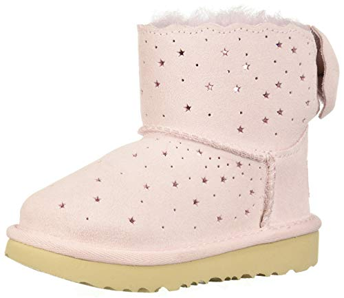 UGG Australia Unisex-Kinder Mini Bailey Bow Starry Lite Halblange Stiefel, Seashell Pink, 30 EU