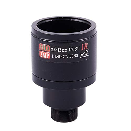 Fanuse HD-CCTV-Objektiv 3.0MP M12 2,8-12 Mm Vario-CCTV-IR-HD-Objektiv, F1,4, Manueller Fokus-Zoom
