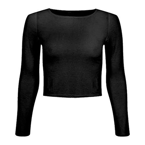 WearAll Damen Lamarmshirt Gr. S-M 34-36, schwarz