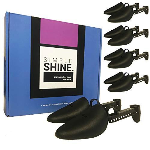 5 pares de árboles de zapatos | 10 zapatos de longitud ajustable de alta calidad | Forma de zapatos de dedo del pie y protector del talón