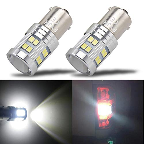 1156 Reverse Light LED Bulbs, PYJR P21w 1141 Ba15s 7506 LED Light Bulbs, 1000 Lumens 6000K Xenon White, with Projector, for Backup, Reverse Light, lawn mower headlights, lawn tractor Bulb.(pack of 2)