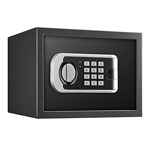 DGHJK Caja Fuerte electrónica de Acero con Teclado para Proteger el Dinero y los pasaportes: para el hogar, los Negocios o los Viajes