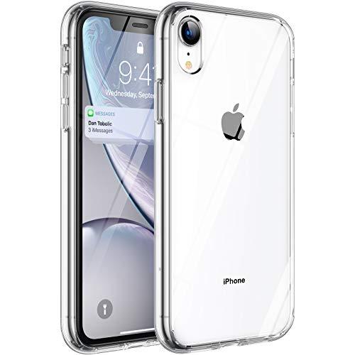 Syncwire Hülle für iPhone XR, [Ultra Clear, Anti-Gelb, Kratzfest, Fallschutz, Air Cushion] Durchsichtig Handyhülle, Schutzhülle mit weicher Silikon Bumper und Hartplastik Rückseite, Transparent