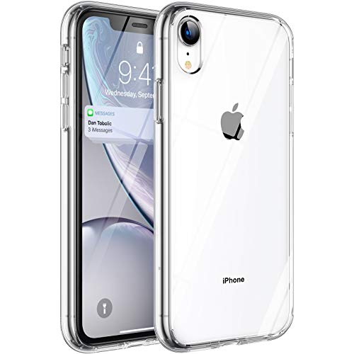 Syncwire Coque Compatible avec iPhone XR - Transparente Housse de Protection en Silicone Rigide Anti Choc Étuis 6,1 pouces - Transparent