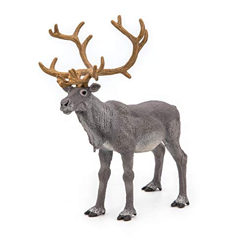 Papo 50117 Reindeer WILD ANIMAL KINGDOM Figurine, Multicolour
