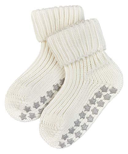 FALKE Unisex Baby Hausschuh-Socken Catspads Cotton, Baumwolle, 1 Paar, Weiß (Off-White 2040), 6-12 Monate (74-80cm)