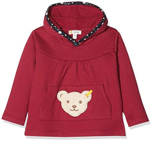 Steiff Baby-Mädchen Sweatshirt, Rot (BEET RED 4010), 86 (Herstellergröße:86)