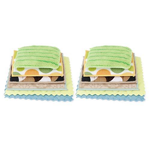 Trapo de Limpieza de Platos, Kit de Esponja de Limpieza Duradera, Reutilizable para la Ventana del Coche, Traje de lavavajillas, Utensilios de Cocina