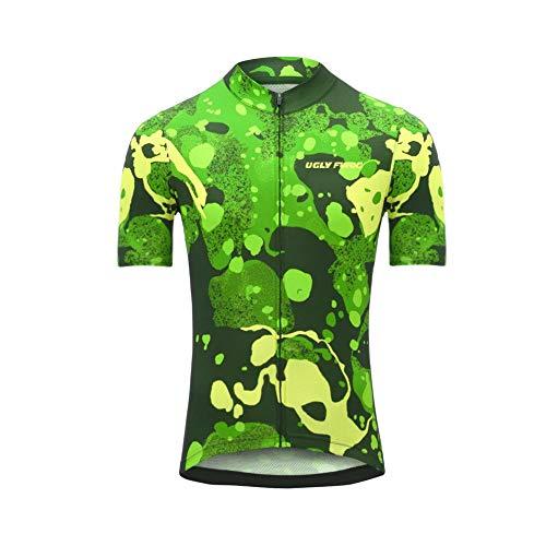 Uglyfrog Radtrikot Kurzarm Herren Atmungsaktiv Fahrrad Trikot Full Reißverschluss Schnell Trocken Radsport MTB Fitness Jersey