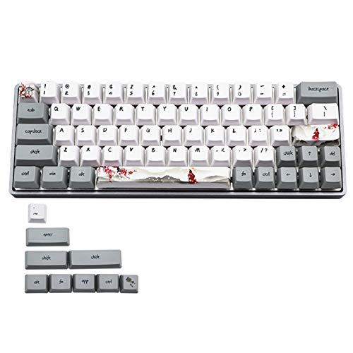 xldiannaojyb 73 Keys Dye Sublimation Teclado mecánico Lindo KeyCaps PBT OEM Perfil CLUM para TECTURO