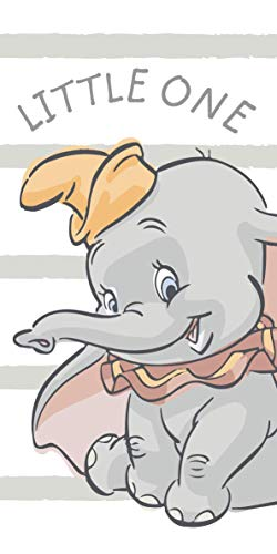 Jerry Fabrics Disney Dumbo - Toalla de playa (70 x 140 cm), diseño de elefante