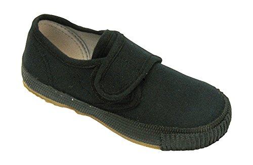 Mirak Boys 99248 Velcro Fastening Plimsoll Sneaker Trainer Black (Med)