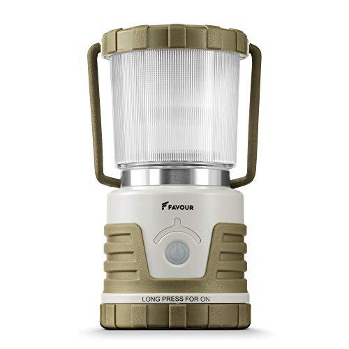 Favour Lampada Campeggio a LED 530 Lumens - Lanterna da Esterno Portatile, Impermeabile IPX4 e...