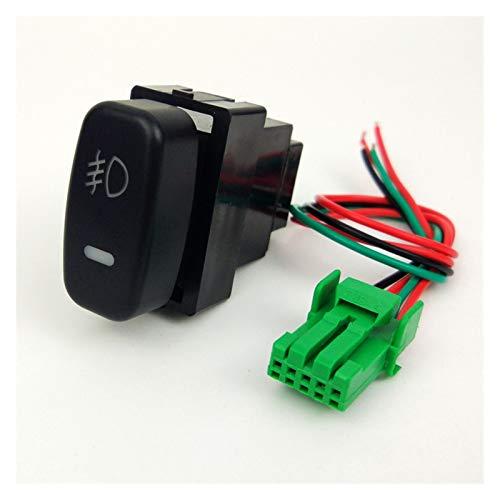 Wishful DRL LED Ventilador Fog Fog Frente Cámara Grabadora Monitor Monitor de Radar Sensor Sensor Interruptor Botón Ajuste para Mitsubishi Pajero Io Lancer Ex (Color : Fog Light)