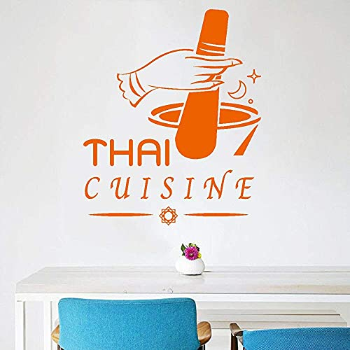 Cocina Tailandesa Vinilo Pared Calcomanía Decoración Kitcnen Paredes Comida Picante Restaurante Pegatinas Para Nevera Decoración Cena Papel 74X102Cm