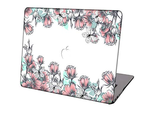 Laptop Case for Newest MacBook Pro 15 inch Model A1707/A1990,Neo-wows Plastic Ultra Slim Light Hard Shell Cover Compatible Macbook Pro 15 inch,Flowers 211