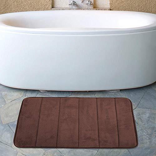 Bodenkissen Weiche, abrollbare, rutschfeste Fußmatten Schnelltrocknen für das Wohnzimmer(Brown)