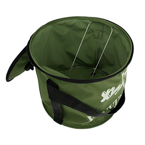 MagiDeal Pot de Poisson Portable Durable Waterproof Tissu Foldable Léger Carré de Toile Portable Poisson Seau Tackle Boîte Eau Pail - S