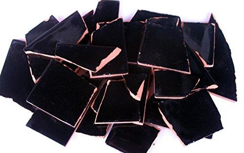 900g Bruchmosaik, Mosaikfliesen aus handgefertigten Fliesen - schwarz