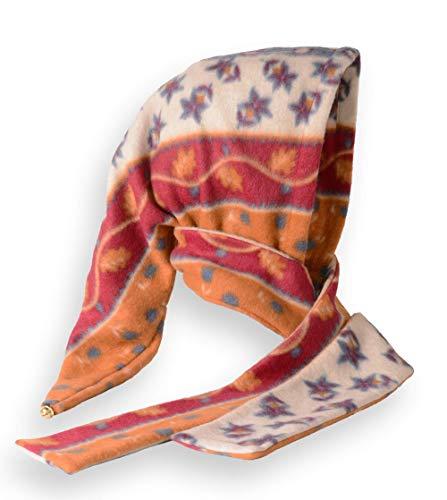 Fleece Zipfel-Kapuze mit Glöckchen - Herbst-Muster