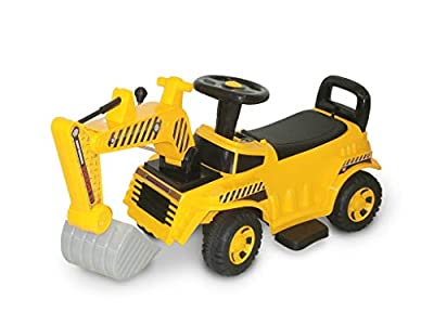 Wonderlanes Beyond Infinity - Children's Ride On Mini Construction Backhoe - 6V Battery Powered Wheels, for Ages 1-3 from Beyond Infinity
